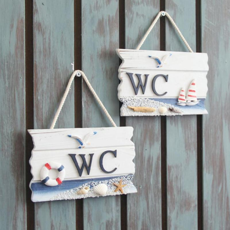 New Hot Hand Carved Hanging Wooden WC Bathroom Plaque Art Sign Board  Lighthouse Home Door Cafe Decorations Gift 35. Hanging Bathroom Sign Reviews   Online Shopping Hanging Bathroom