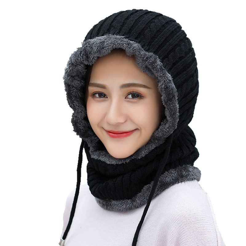 Winter wool Knitted Hat   Beanie   Men Scarf   Skullies     Beanies   Winter Hats For Women Men Caps Gorras Bonnet Mask Brand Hats 2018