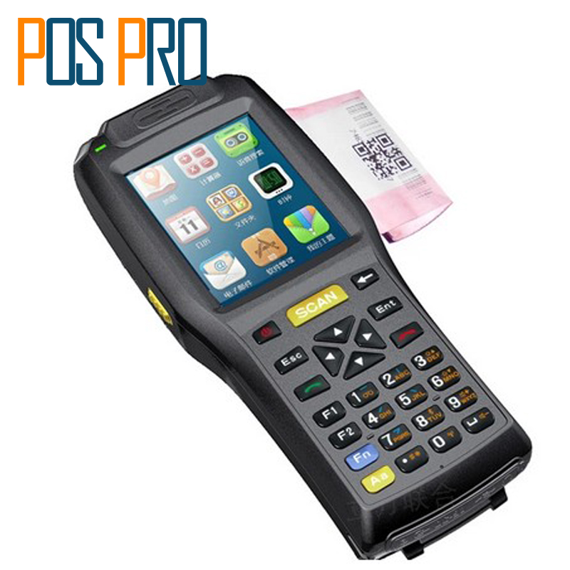 IPDA015 3.5 inch touch screen With Thermal Printer 4000mA battery long standby time Android Barcode Scanner handheld terminal