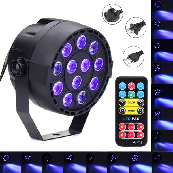 Newest UV Purple 36W LED Stage Light DMX Stage Lighting Effect Par Lamp For Party Disco Club DJ Holiday Christmas Decor Lights niugul dmx stage light mini 10w led spot moving head light led patterns lamp dj disco lighting 10w led gobo lights chandelier