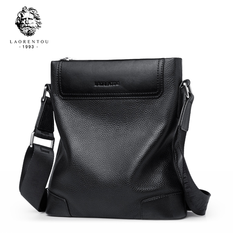 b036bd76122e LAORENTOU Men Shoulder Bag Cow Leather Messenger Bag Purse Genuine Leather  Crossbody Bag Business Shoulder Bags for Man