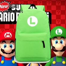 new design Super mario brothers LUIGI Green nylon backpack Luigi concept retro game fans daily use backpacks NB063 cool hot game concept backpack fortnite backpacks nylon school bag game fans backpack nb253
