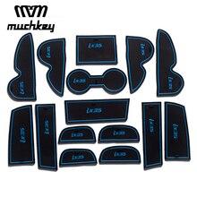 Для Hyundai IX35 2009-2012 2013 2014 2015 автомобиля stying Новые Резиновые Нескользящие коврики межкомнатных дверей pad кубок коврики 15 шт. Авто Интимные аксессуары