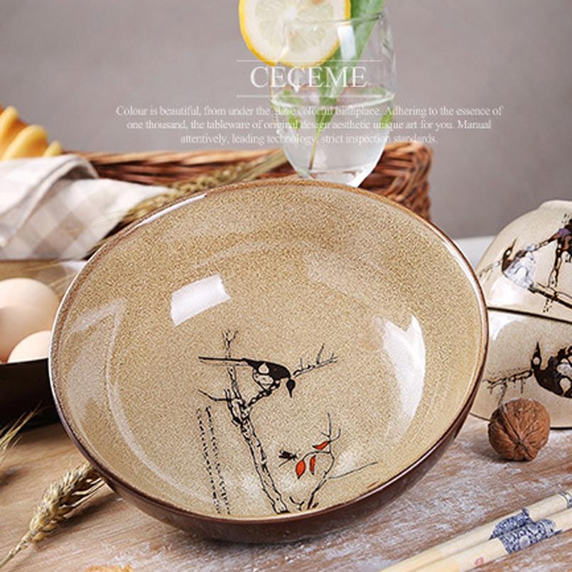 8inch Platos de keramika əl ilə boyanmış keramika qabı əriştə - Mətbəx, yemək otağı və barı - Fotoqrafiya 3