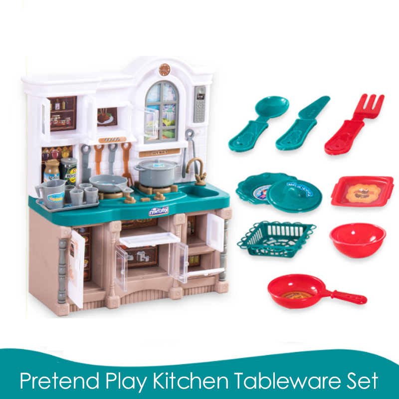US $24.77 22% OFF|New 1 Sets 9 Pcs Big Size Kitchen Plastic Pretend Play  Food Children Toys With Music And Light Cook Fun Simulation Gift D75-in ...