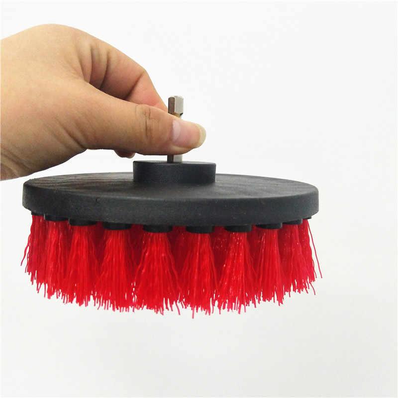 3 قطعة/المجموعة الأحمر كبير حجم الحفر فرشاة الطاقة فرك نظيفة فرشاة تستخدم على الحفر الكهربائية للسجاد أريكة جلدية شحن مجانا