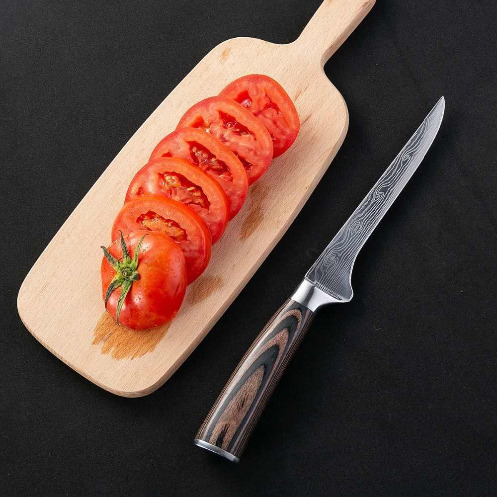 Профессиональный кухонный нож шеф повара 5 дюймов японский дамасский