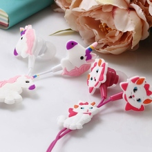 Colorful Unicorn Wired Headphones Children Music Stereo Earbud 3.5mm Earphone Fo