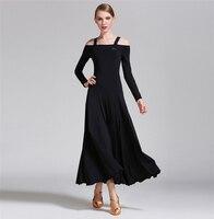 Ballroom Dance Dress Elegant Long Sleeve Stage Dancing Wear Women's Cheap Ballroom Flamenco Dresses