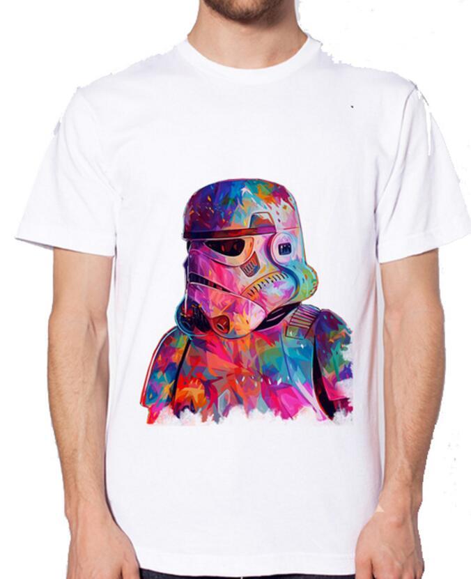 Custom processing star wars king T Shirt Mens High Quality Tops Tees Custom male t-shirt Printed clothing