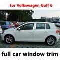 Для Volkswagen Golf 6 внешние аксессуары для автомобиля Стайлинг полное окно отделка из нержавеющей стали декоративные полосы с колонкой