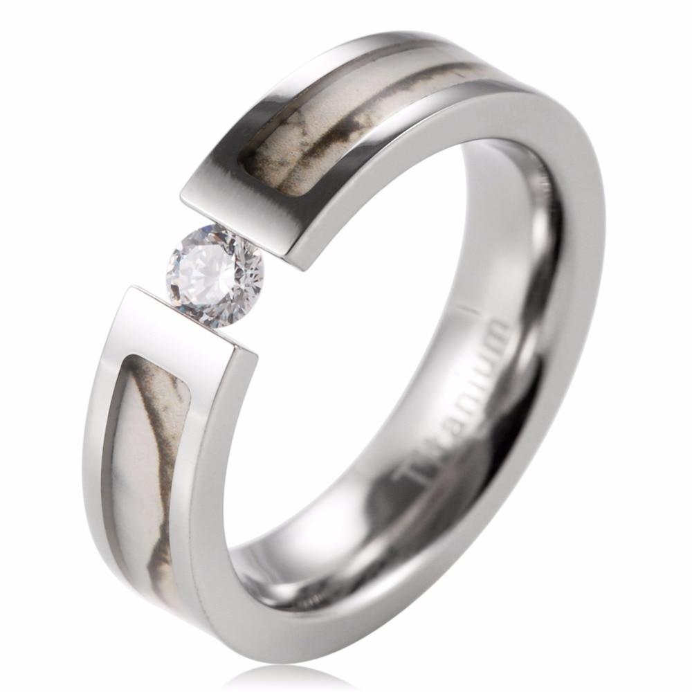 Aliexpress.com : Buy SHARDON Classic Women Ring Titanium Tension Set ...