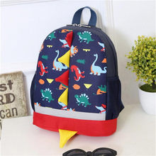 Transer Baby Boys Girls Kids Dinosaur Pattern Animals Zipper Backpack Shoulder School Bags Travel Backbags A5 30(China)