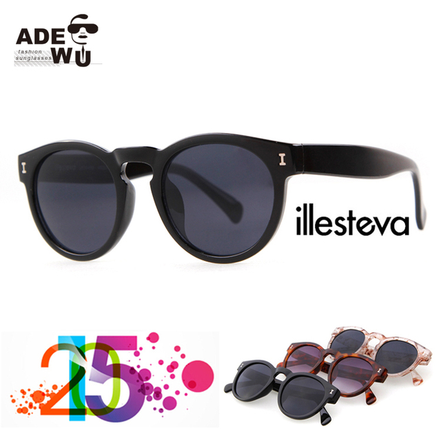 3cb415f6012 New Street Fashion High Quality illesteva Round Sunglasses Women Super  Popular Vintage Plastic Gradient sunglasses Leonard401