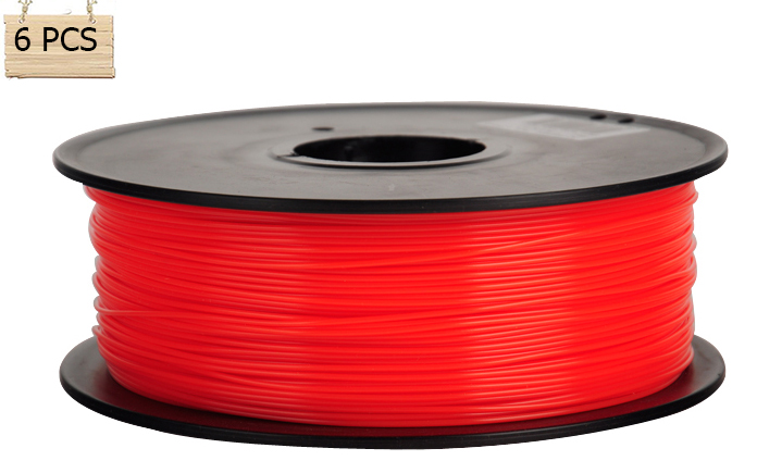 6 Roll Anet 3d printer filament 1KG/Roll PLA 1.75mm/3mm plastic Rubber Consumables Material MakerBot/RepRap