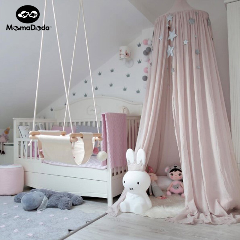 INS Hot Baby Portable Crib Curtain Mosquito Net Tent Infant Netting Kids Bed Accessories Folding Canopies in Cots for Children double door type crib yurt netting larger space baby bed canopy travel kids camping mesh tent folding easily baby mosquito net