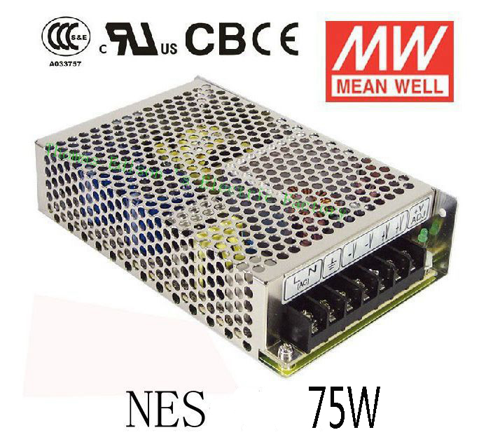 Original MEAN WELL power suply unit dc ac to dc power supply 75W 5V 14A 12V 6.2A 24V 3.2A 48V 1.6A MEANWELL meanwell 12v 350w ul certificated nes series switching power supply 85 264v ac to 12v dc