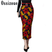 S 2XL Newest Autumn Winter Style 2017 Women Skirt Plus Size Slim Skirt Long Skirt Woolen