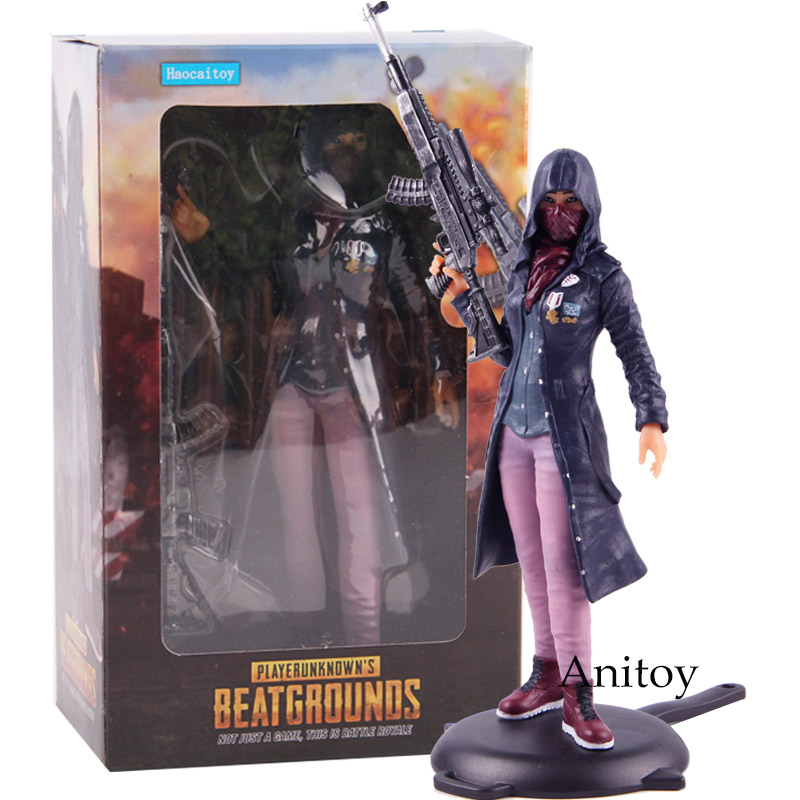 PUBG Playerunknow's BattleGrounds Hot Game Battle Loyale Girl Faith Suit Ver. PVC Haocaitoy Action Figure Collectible Model Toy playerunknown s battlegrounds pubg winner chicken bobble head action figure with magnet pvc collectible model toy 2pcs set
