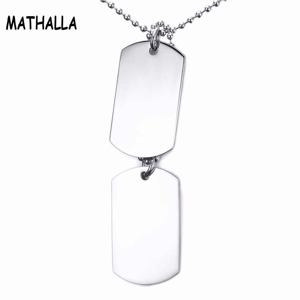 Stainless Steel Hangtag Spot Wholesale Guangmianjun Brand Two Pieces Of Necklace Can Be Engraved