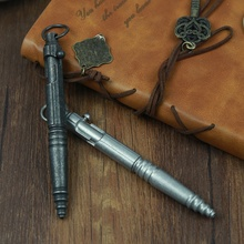купить Creative Stainless Steel Machine Gun Retro Gun Tactical EDC Self-defense Mechanical Pen Neutral Writing Gift Pen Outdoor Noble по цене 823.26 рублей