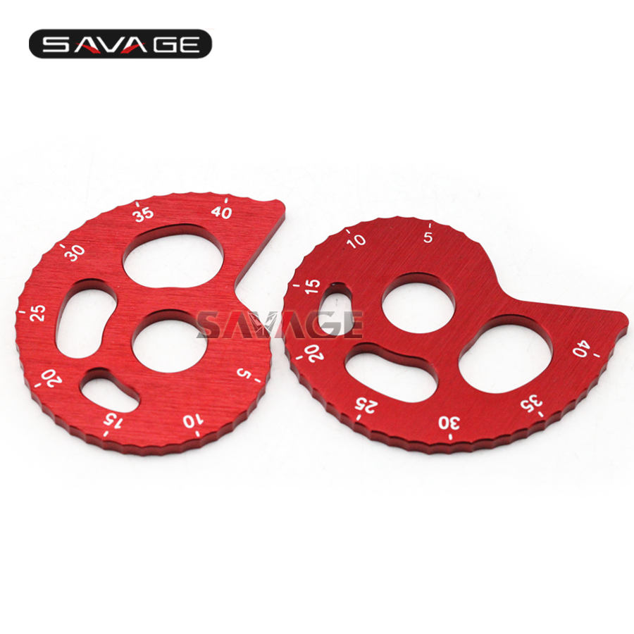 For YAMAHA TTR250 TW200 TW225E XT225 XT250 Serow Motorcycle Accessories CNC Aluminum Chain Adjuster with scale Red двигатель для мотоцикла ahl 2 yamaha ttr250 ttr 250