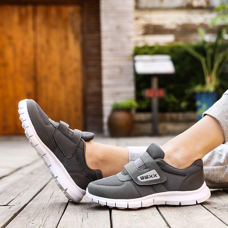 Zapatillas On Hombre Oscuro rojo Hombres gris Slip Zapatos De Casual Ancianos Moda Negro Walking qYqpI4w
