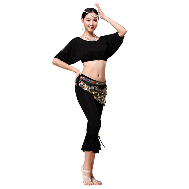 2018 Dancing Practice Wear Professional Plus Size Belly Dance Costume Set  Top 03135ac450d2