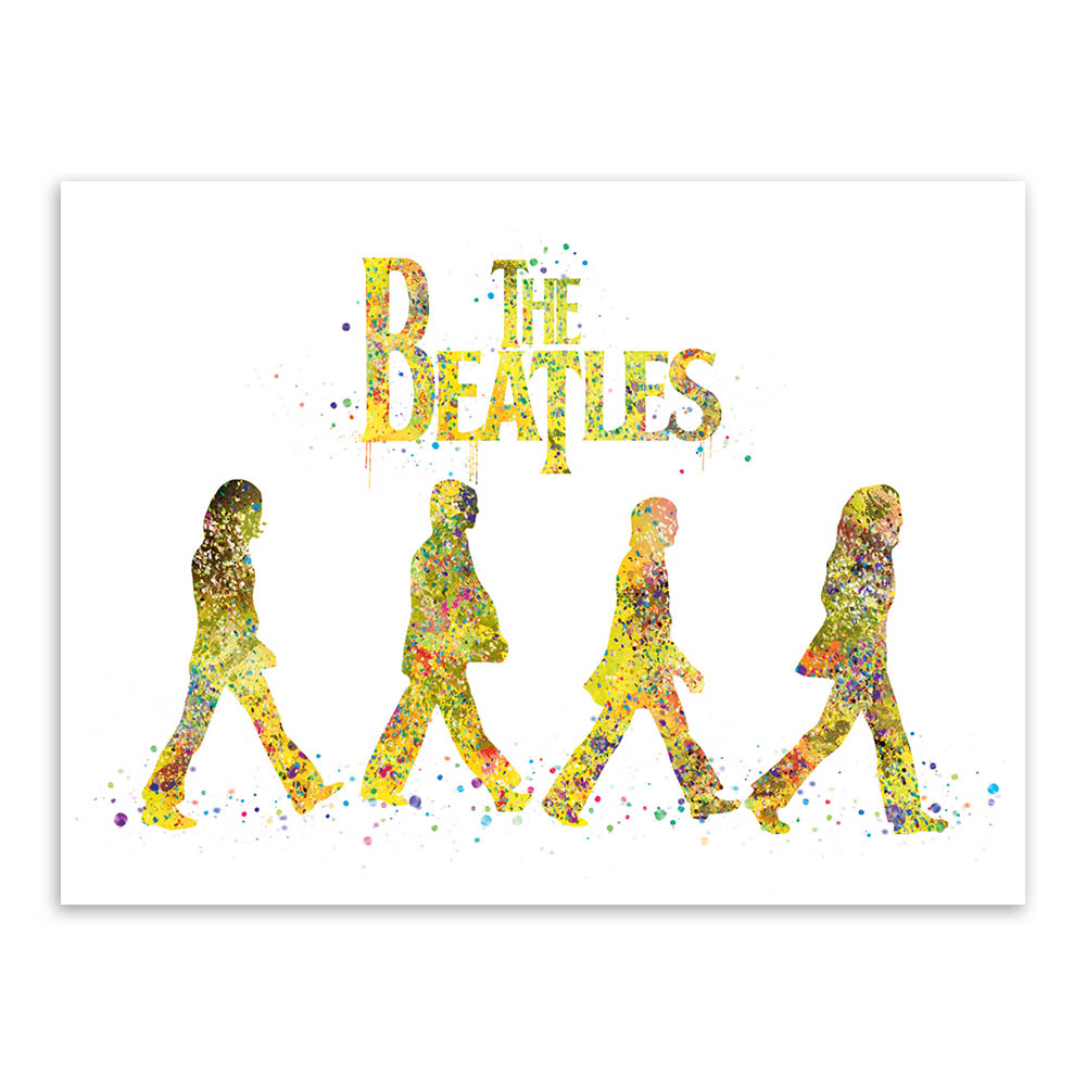 Original Watercolor Beatles Living Bed Room Modern Wall Art A4 Large ...