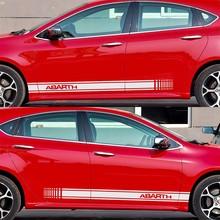 2pcs Customizable for ABARTH Door Stickers Decal Car-Styling For fiat 500 grande punto bravo doblo panda ducato car accessories