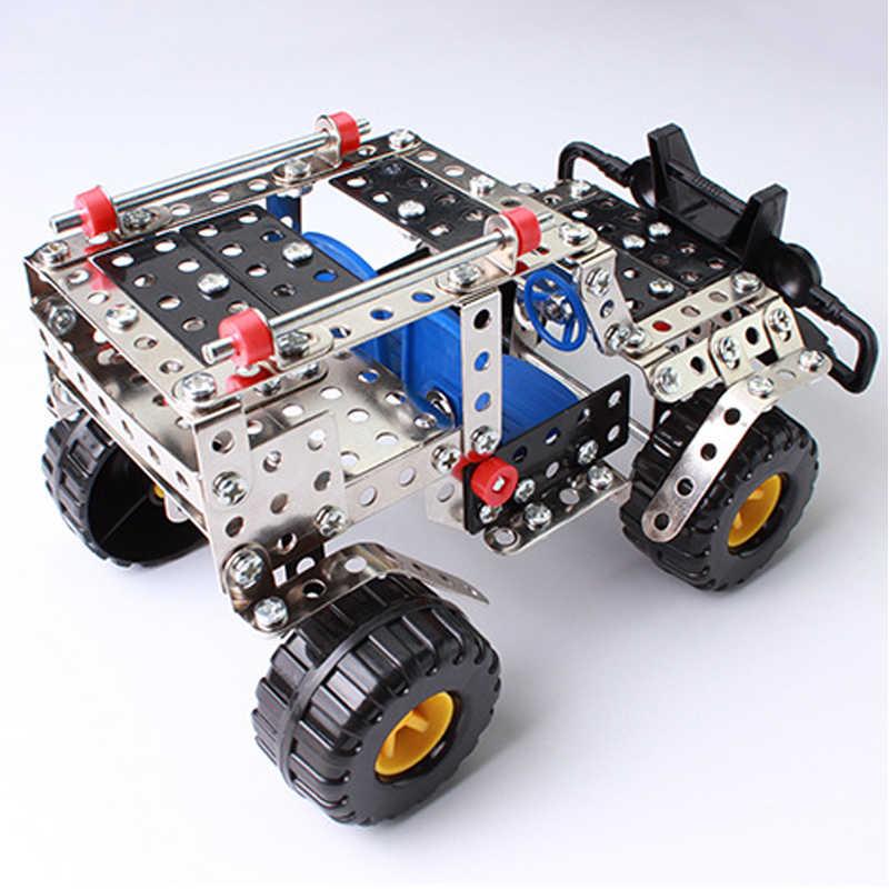 262pcs Plastic Model Kits Metal Model Puzzle Jeep Car Toy