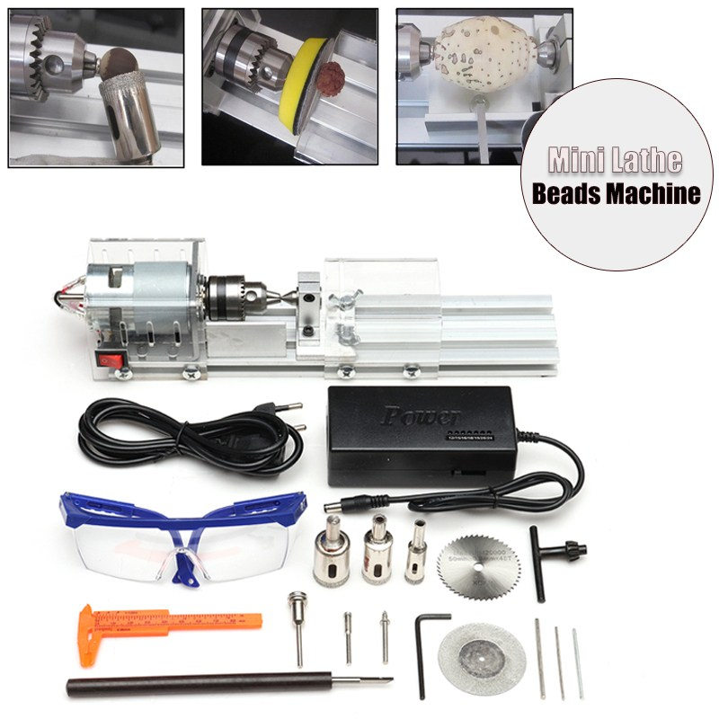 New Mini Lathe Polishing Machine Beads Woodworking Tools DIY Lathe Polishing Cutting Mini Drill Rotary Standard Set DC12V-24V tungsten alloy steel woodworking router bit buddha beads ball knife beads tools fresas para cnc freze ucu wooden beads drill