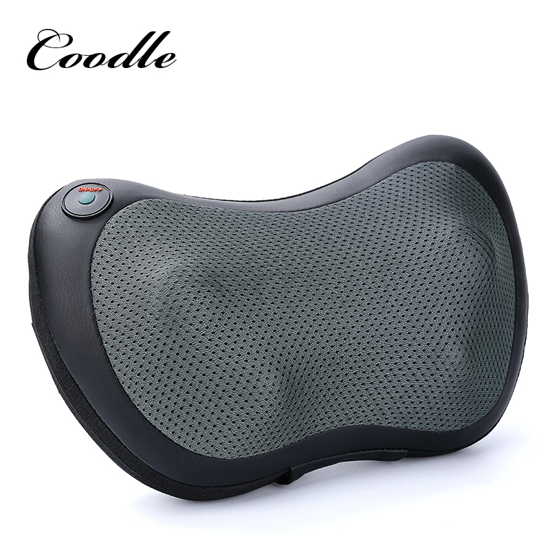 Neck Massager Car Home Cervical Shiatsu Massage Neck Back Waist Body Electric Multifunctional Massage Pillow Cushion massage pillow cervical massager neck waist and back massage cushions multifunction can be used in the car or at home