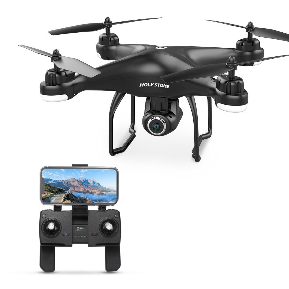 Drone GPS HS120D avec caméra FPV 1080 p HD grand Angle enregistrement vocal Tapfly longue portée avec quadrirotor