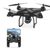 Holy Stone HS120D GPS Drone with FPV 1080p HD Camera Wide Angle Voice Recording Tapfly Long Range with Follow Me RC Quadcopter