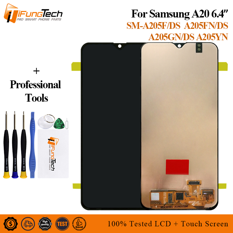 For Samsung A20 2019 A205 LCD Display Screen Touch For Samsung A20 A205/DS A205F A205FD A205A LCD Digitizer AssemblyFor Samsung A20 2019 A205 LCD Display Screen Touch For Samsung A20 A205/DS A205F A205FD A205A LCD Digitizer Assembly