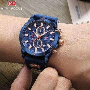 Image 3 - מיני פוקוס Mens שעוני יד קוורץ שעון גברים עמיד למים צבאי ספורט שעונים גברים יוקרה מותג זכר שעון Relogio Masculino כחול