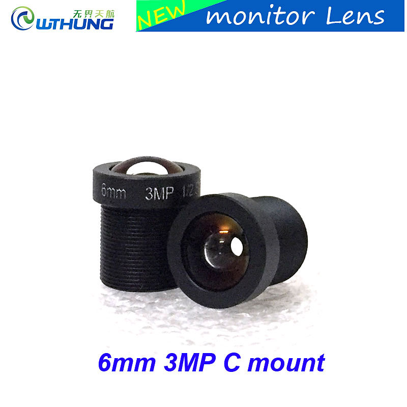 2 pcs 3MP 6mm MTV Lens Fixed Aperture M12 mount 1/2.5inch F2.0 For 1/2.8 1/3 or 1/4 CMOS/CCD Sensor Security CCTV IP/AHD Camera aomway universal cmos ccd m12 camera fixed mount for fpv