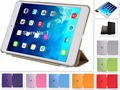Free shipping PU Leather Slim Magnetic Front Smart Cover Skin + Hard PC Back Case for Apple  ipad air 2 A1566`A1567 case