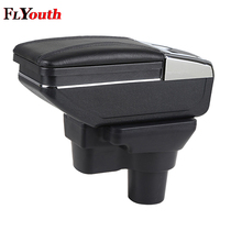 Car Armrest Box Central Store Content Box Cup Holder Ashtray Interior Accessories For Hyundai Solaris 2 Accent Verna 2017 2018 qcbxyyxh car styling puleather car armrest for hyundai accent 2006 2015 central storage box cover interior with cup holders case