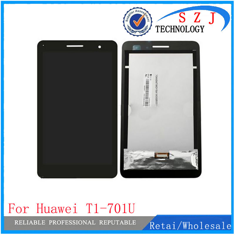 New 7'' inch case For Huawei Honor Play Mediapad T1-701 T1 701U T1-701U LCD Display Touch Screen Panel Digitizer free shipping brand new replacement parts for huawei honor 4c lcd screen display with touch digitizer tools assembly 1 piece free shipping