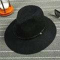 Панама Модные Шляпы Моды Старинные Женщин Пляж Шляпа Вс Шляпы Женщины Волны Леди Чистой Шерсти Большой Шляпе