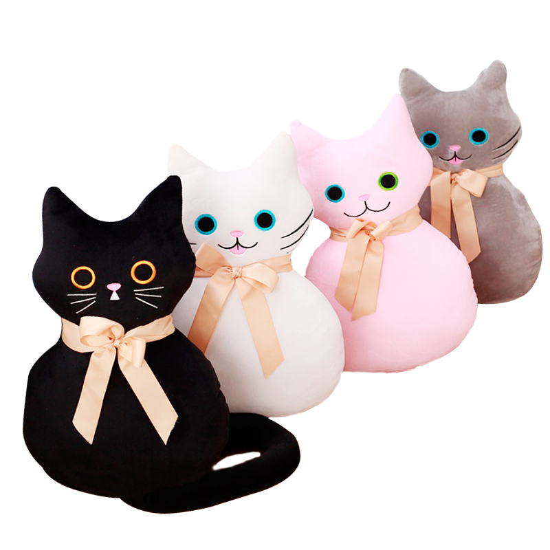 2479dff2d4c Best Seller 53cm Kawaii Long Tail Cat Plush Toys Stuffed Cute Animal Cat  Doll with Bowknot 4 Colors Soft Pillow Cushion Lovely Birthday Gift For  Sale at ...