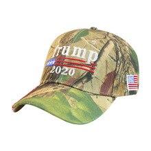 Winfox Letter Embroidery Trump 2020 Cap Camouflage Baseball Caps Men Women President Snapback Dad Hats Flag Sports Visor