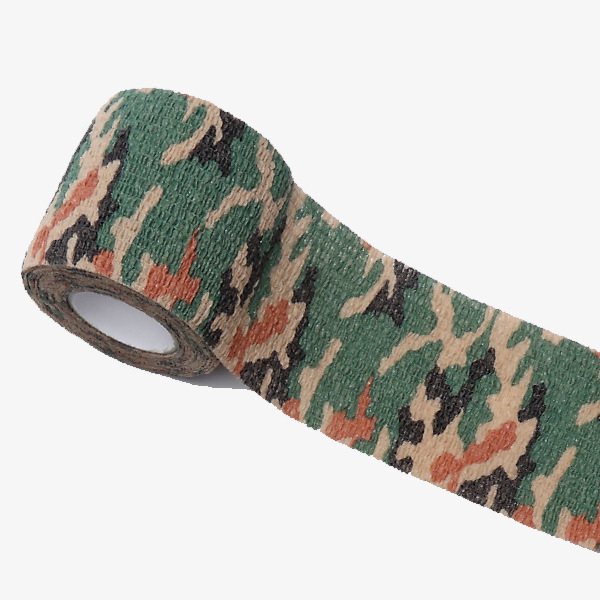New Arrival Emergency Kits Outdoor Military Supplies Outdoor Nonwovens Self-adhesive Bandage Jungle Camouflage Tape Elastic Tape