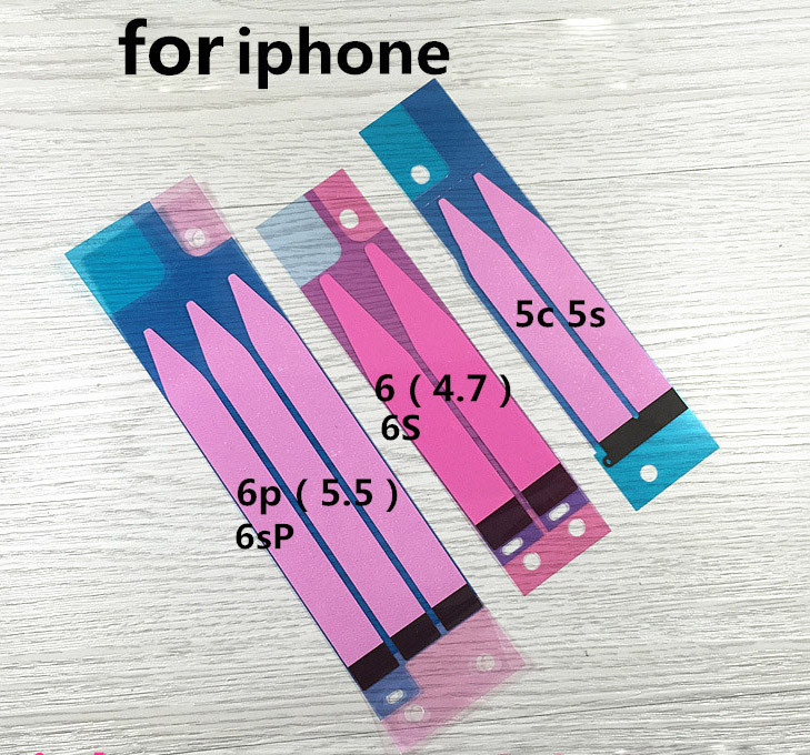 80PCS Battery Adhesive Glue Tape Strip Sticker Replacement For Iphone 6 6G 6 Plus 5S 5C