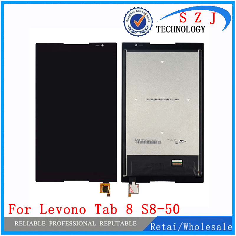 New 8'' inch For Lenovo Tab S8-50 S8-50F S8-50L S8-50LC LCD Display + Touch Screen Digitizer Glass Lens assembly Free shipping new 8 3 inch lcd display touch screen digitizer glass assembly for lg g pad 8 3 v500 wifi and 3g version free shipping