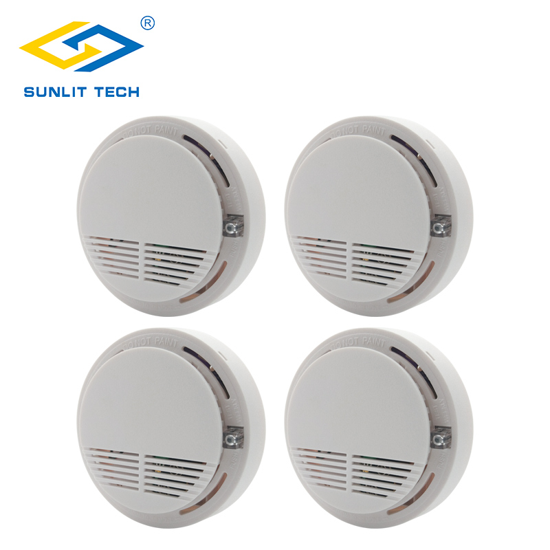 все цены на 4pcs/Lot Wireless Fire Smoke Detector 433Mhz Fire Sensor Alarm Smoke Monitor Tester for Home Office Shop Indoor Security System онлайн
