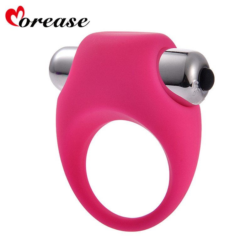 Buy Morease Men Silicone Penis Ring Sex Vibrating Cock Ring Toy Butterfly Ring Delay Premature Ejaculation Cock Ring Adult Product