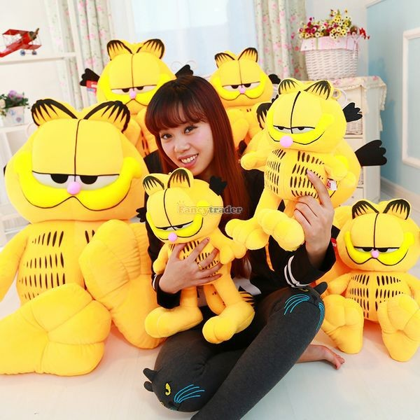 Fancytrader 49\'\' 125cm Super Funny Big Stuffed Soft Plush Lovely Giant Garfield Cat, Free Shipping FT50713 (12)